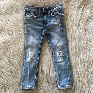 H&M Skinny Fit Distressed Denim Jeans